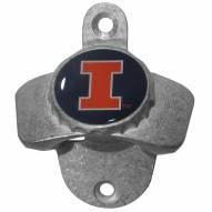 Illinois Fighting Illini Wall Mounted Bottle Opener