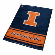 Illinois Fighting Illini Woven Golf Towel