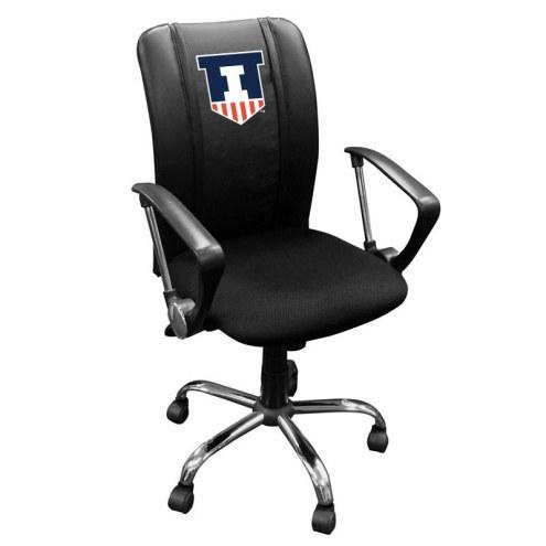 Illinois Fighting Illini XZipit Curve Desk Chair