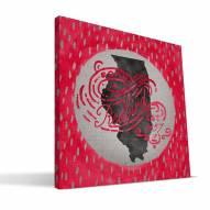 "Illinois State Redbirds 12"" x 12"" Born a Fan Canvas Print"