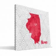 "Illinois State Redbirds 12"" x 12"" Home Canvas Print"