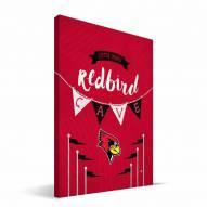"Illinois State Redbirds 8"" x 12"" Little Man Canvas Print"