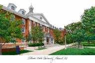 Illinois State Redbirds Campus Images Lithograph