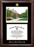 Illinois State Redbirds Gold Embossed Diploma Frame with Lithograph