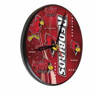 Illinois State Redbirds Digitally Printed Wood Clock