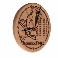 Illinois State Redbirds Laser Engraved Wood Clock