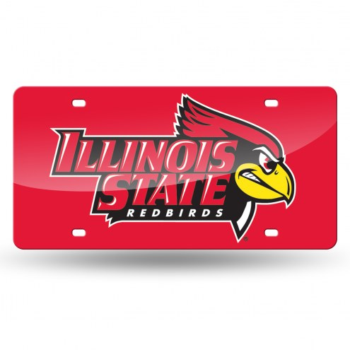 Illinois State Redbirds Laser Cut License Plate