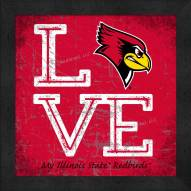 Illinois State Redbirds Love My Team Color Wall Decor