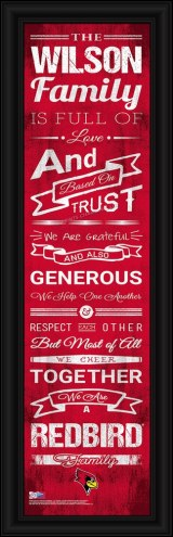 Illinois State Redbirds Personalized Family Cheer Framed Art