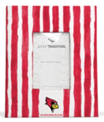 Illinois State Redbirds School Stripes Picture Frame