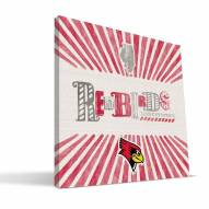 Illinois State Redbirds State Canvas Print