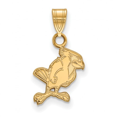 Illinois State Redbirds Sterling Silver Gold Plated Small Pendant
