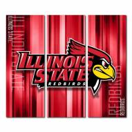Illinois State Redbirds Triptych Rush Canvas Wall Art