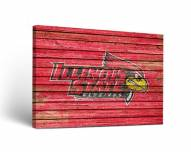 Illinois State Redbirds Weathered Canvas Wall Art