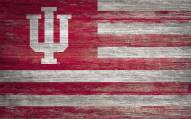 """Indiana Hoosiers 11"""" x 19"""" Distressed Flag Sign"""