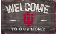 """Indiana Hoosiers 11"""" x 19"""" Welcome to Our Home Sign"""