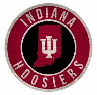 """Indiana Hoosiers 12"""" Circle with State Sign"""