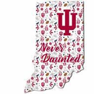 """Indiana Hoosiers 12"""" Floral State Sign"""