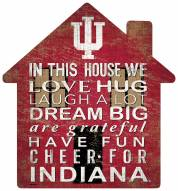 """Indiana Hoosiers 12"""" House Sign"""