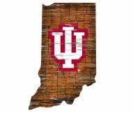 """Indiana Hoosiers 12"""" Roadmap State Sign"""