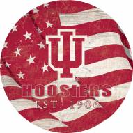 """Indiana Hoosiers 12"""" Team Color Flag Circle Sign"""