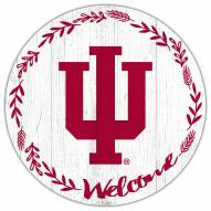 """Indiana Hoosiers 12"""" Welcome Circle Sign"""