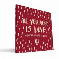 """Indiana Hoosiers 12"""" x 12"""" All You Need Canvas Print"""