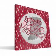 "Indiana Hoosiers 12"" x 12"" Born a Fan Canvas Print"
