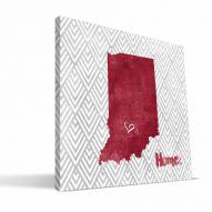 "Indiana Hoosiers 12"" x 12"" Home Canvas Print"