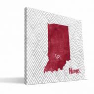 "Indiana Hoosiers 12"" x 12"" Home Canvas Print"
