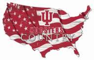 "Indiana Hoosiers 15"" USA Flag Cutout Sign"
