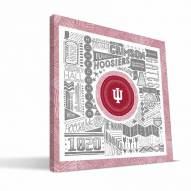 """Indiana Hoosiers 16"""" x 16"""" Pictograph Canvas Print"""
