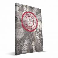"Indiana Hoosiers 16"" x 24"" Scrapbook Canvas Print"