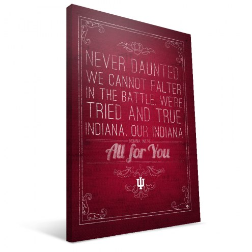 """Indiana Hoosiers 16"""" x 24"""" Song Canvas Print"""