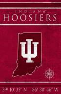 "Indiana Hoosiers 17"" x 26"" Coordinates Sign"