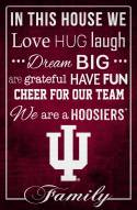 """Indiana Hoosiers 17"""" x 26"""" In This House Sign"""