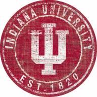 "Indiana Hoosiers 24"" Heritage Logo Round Sign"