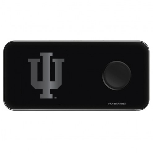 Indiana Hoosiers 3 in 1 Glass Wireless Charge Pad