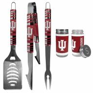 Indiana Hoosiers 3 Piece Tailgater BBQ Set and Salt and Pepper Shaker Set