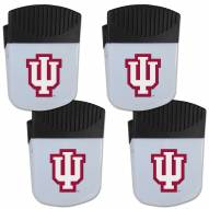 Indiana Hoosiers 4 Pack Chip Clip Magnet with Bottle Opener