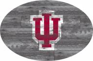 """Indiana Hoosiers 46"""" Distressed Wood Oval Sign"""