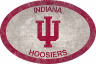 """Indiana Hoosiers 46"""" Team Color Oval Sign"""