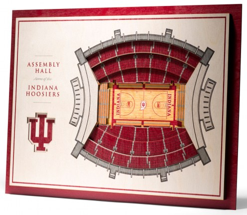 Indiana Hoosiers 5-Layer StadiumViews 3D Wall Art