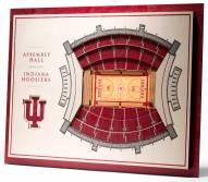 Indiana Hoosiers 5-Layer StadiumViews 3D Wall Art