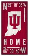 "Indiana Hoosiers 6"" x 12"" Coordinates Sign"