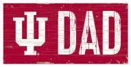 "Indiana Hoosiers 6"" x 12"" Dad Sign"