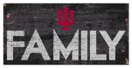 """Indiana Hoosiers 6"""" x 12"""" Family Sign"""