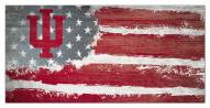 "Indiana Hoosiers 6"" x 12"" Flag Sign"