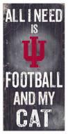"Indiana Hoosiers 6"" x 12"" Football & My Cat Sign"