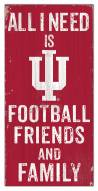 """Indiana Hoosiers 6"""" x 12"""" Friends & Family Sign"""